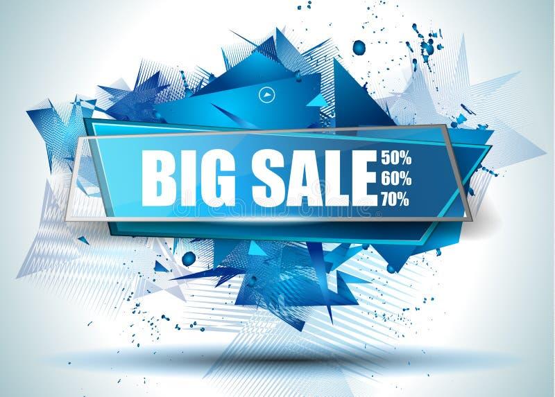 Bandeira da Web de Discoount da venda grande a melhor a tempo para promoções de vendas da loja ilustração royalty free