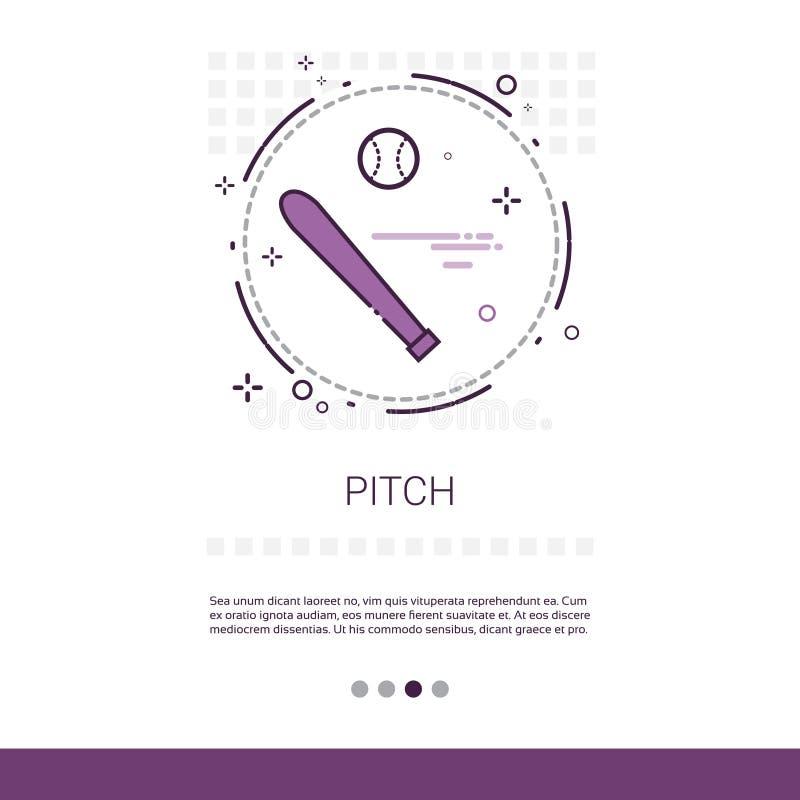 Bandeira da Web do jogo do esporte do bastão do passo com espaço da cópia ilustração stock