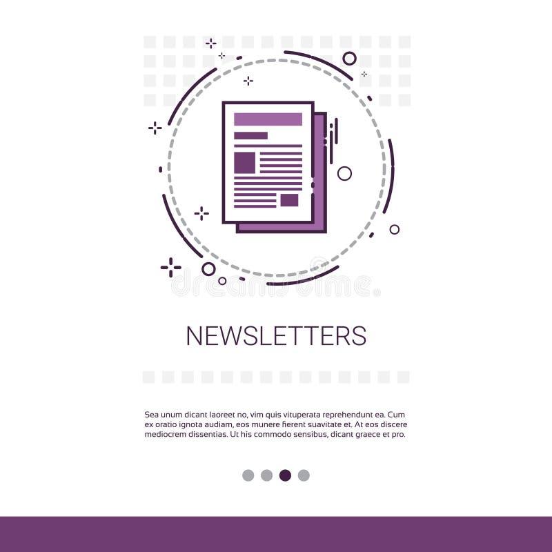 Bandeira da Web do jornal da aplicação do boletim de notícias com espaço da cópia ilustração royalty free