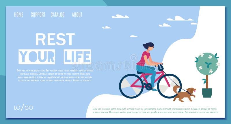 Bandeira da Web do vetor do plano de serviço do planeamento da recreação ilustração stock