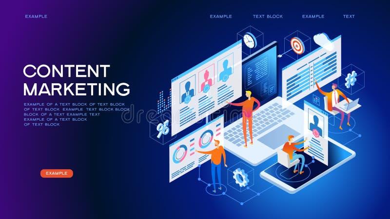 Bandeira da Web da estratégia de marketing do índice do conceito da tecnologia ilustração do vetor