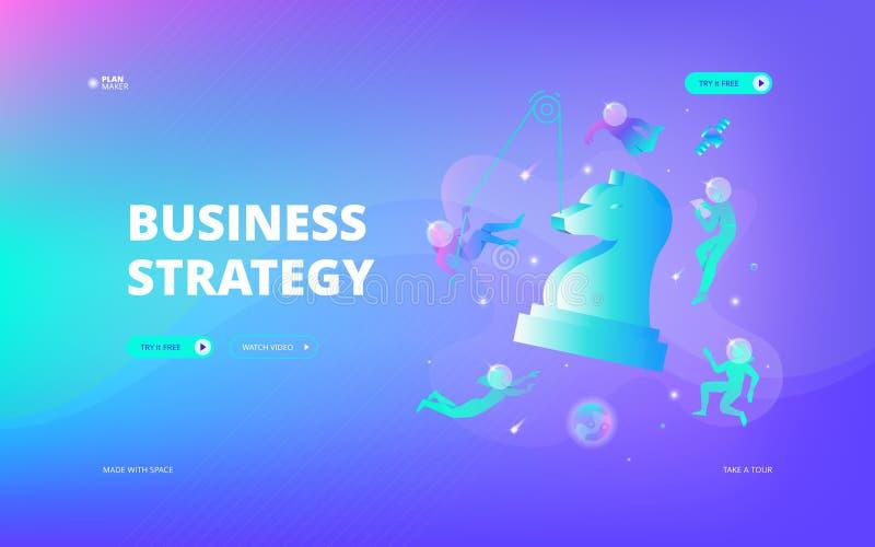 Bandeira da Web da estratégia empresarial ilustração stock