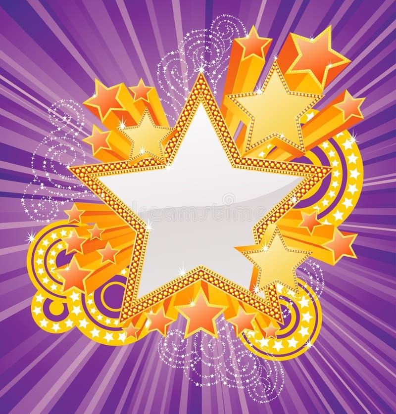 Bandeira dada forma estrela ilustração do vetor