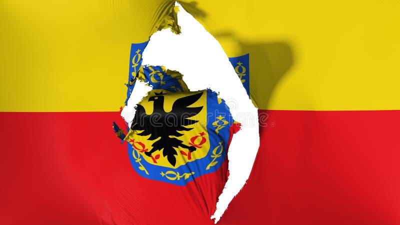 Bandeira danificada de Bogotá ilustração stock