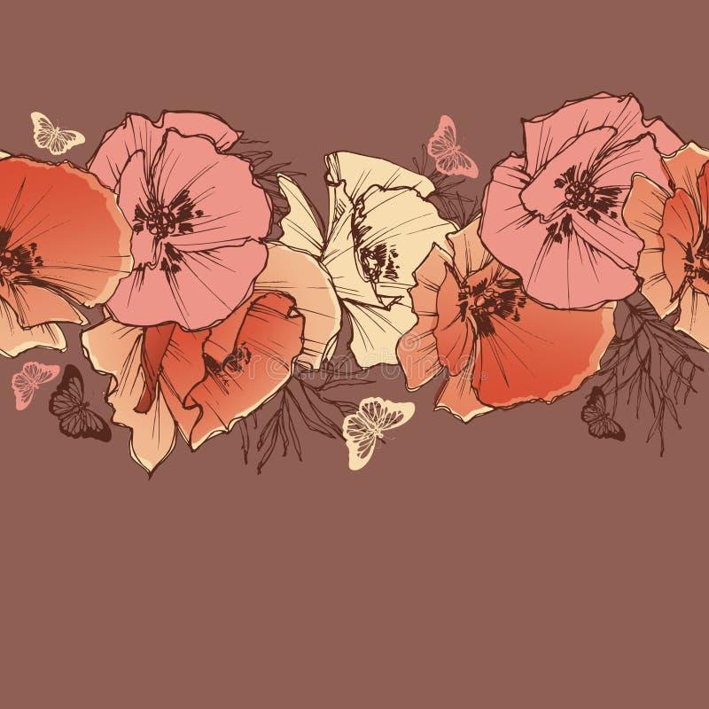 Bandeira das flores Background ilustração royalty free