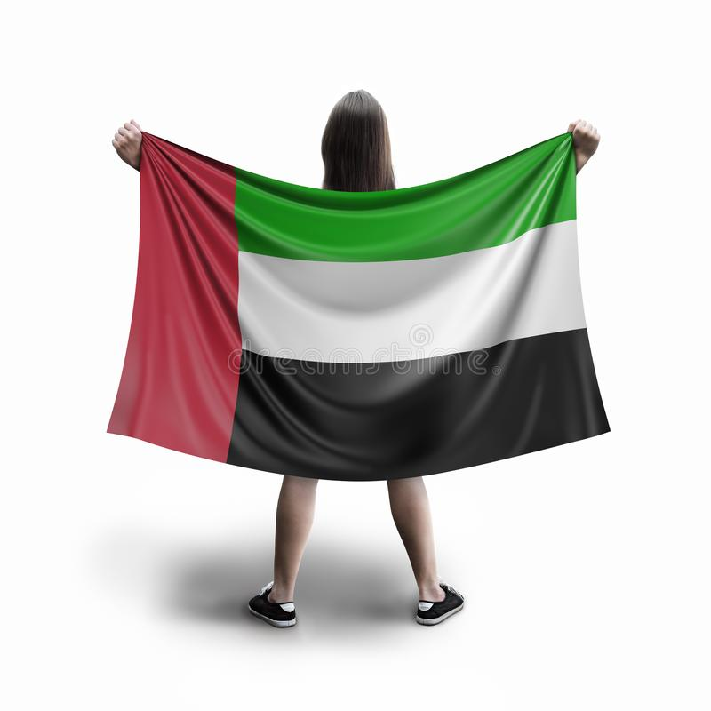 Bandeira das mulheres e do Emiratos Árabes Unidos ilustração do vetor
