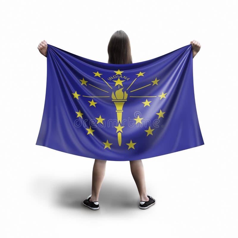 Bandeira das mulheres e do Indiana imagem de stock royalty free