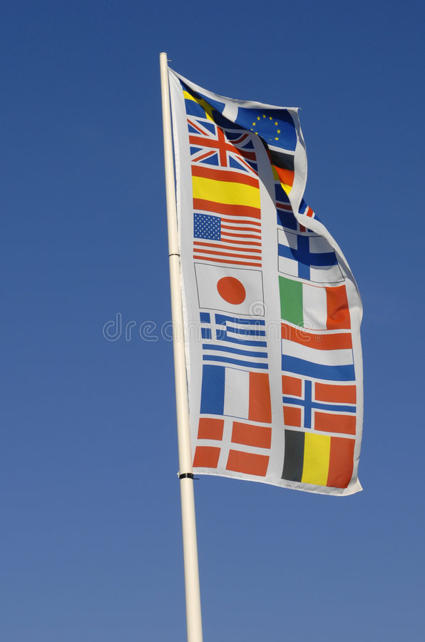 Bandeira das nações fotografia de stock