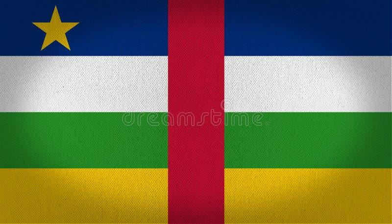 Bandeira de África central ilustração royalty free