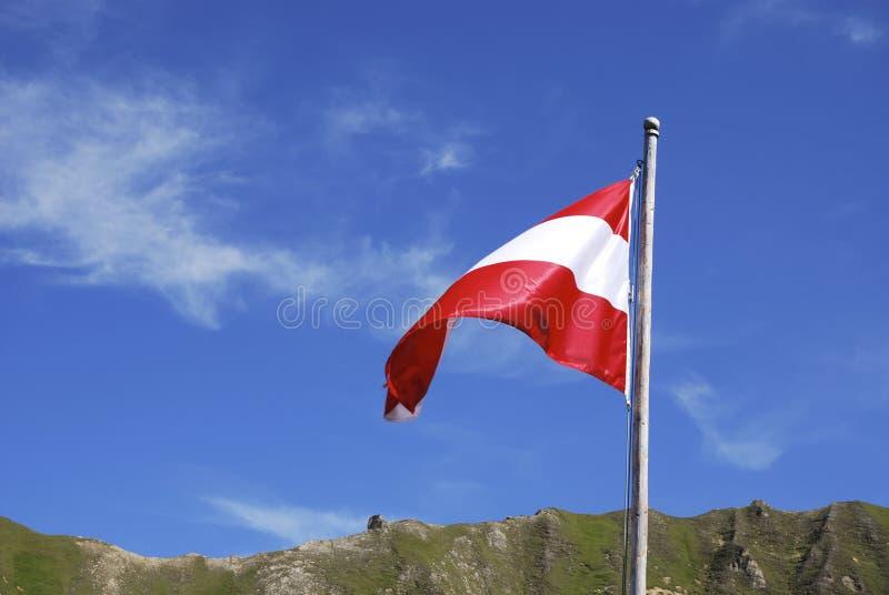 Bandeira de Áustria fotografia de stock