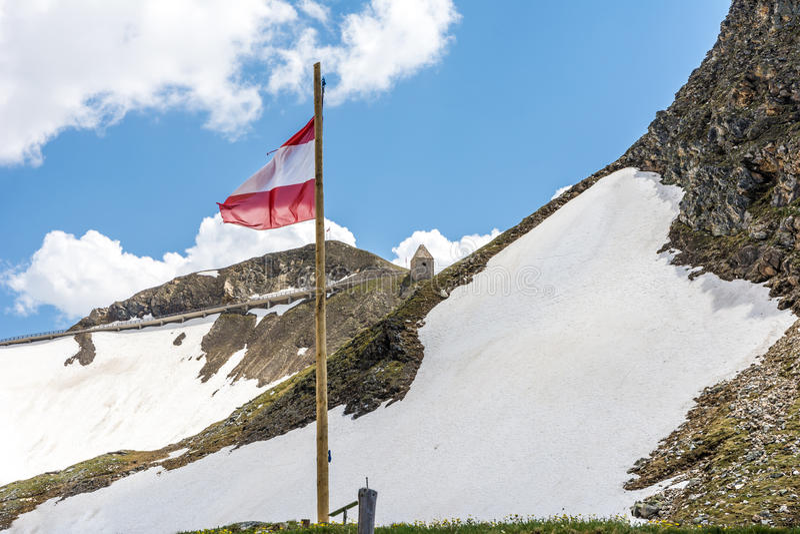Bandeira de Áustria fotos de stock royalty free