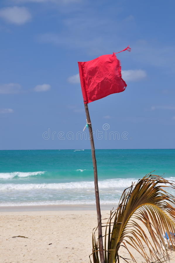 Bandeira de advertência vermelha imagens de stock royalty free