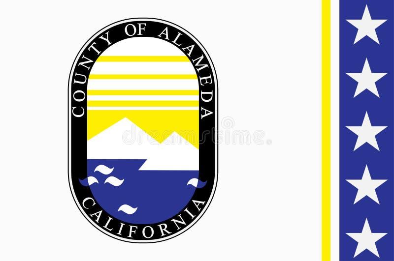 Bandeira de Alameda County em Califórnia, Estados Unidos ilustração stock