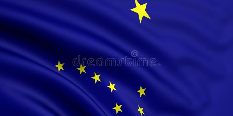 Bandeira de Alaska ilustração stock