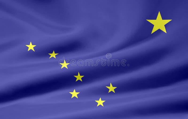 Bandeira de Alaska ilustração do vetor