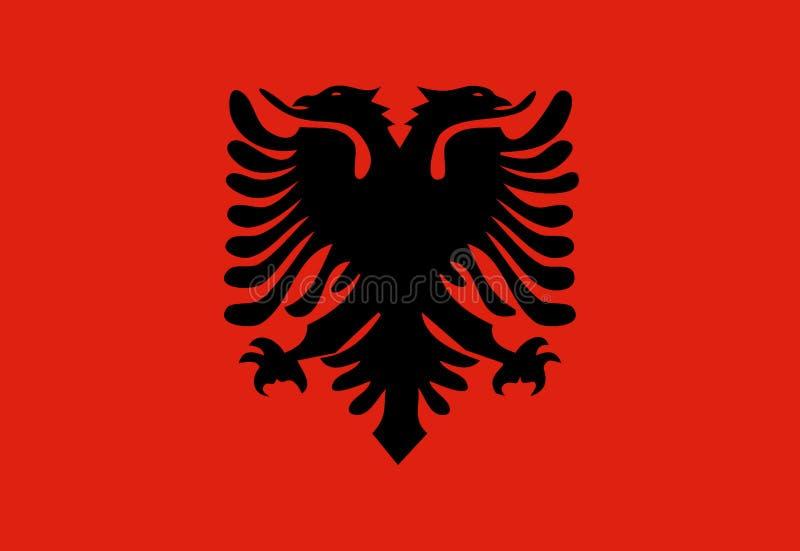 Bandeira de Albânia, ilustração stock