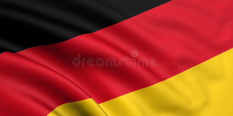 Bandeira de Alemanha ilustração do vetor