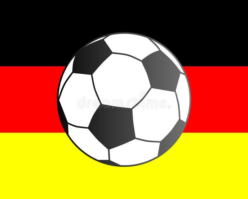 Bandeira de Alemanha e da bola de futebol ilustração stock