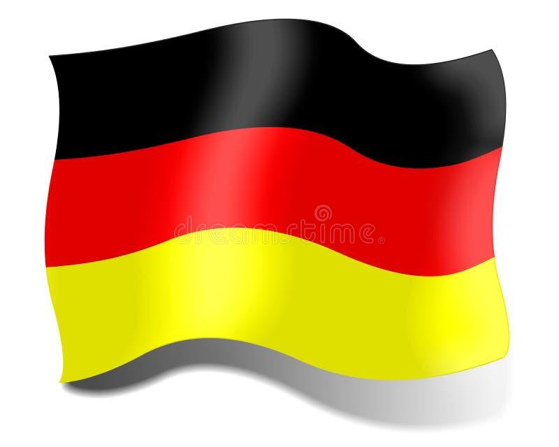 Bandeira de Alemanha em um fundo branco ilustração royalty free