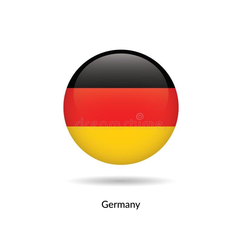 Bandeira de Alemanha - lustroso redondo ilustração royalty free