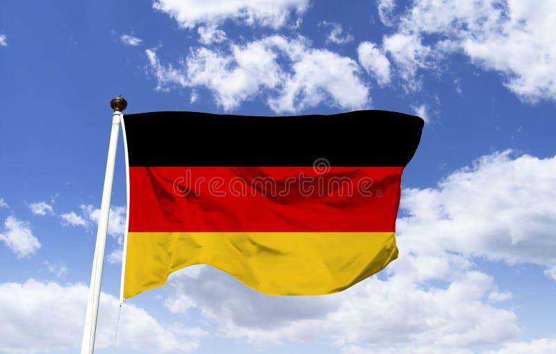 Bandeira de Alemanha, país situado em Europa ocidental fotos de stock