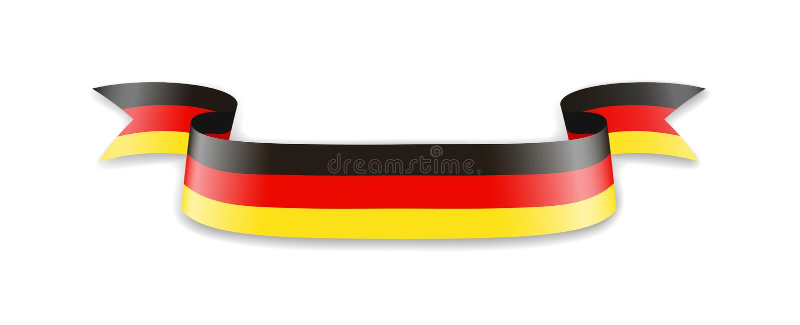 Bandeira de Alemanha sob a forma da fita da onda ilustração do vetor