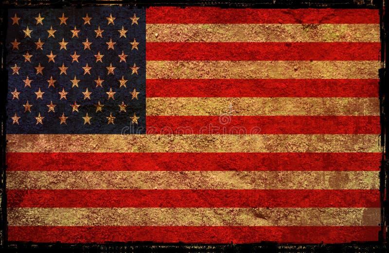 Bandeira de América ilustração stock