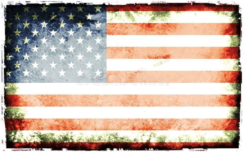Bandeira de América ilustração do vetor