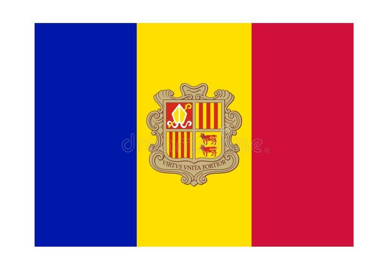 Bandeira de Andorra ilustração do vetor
