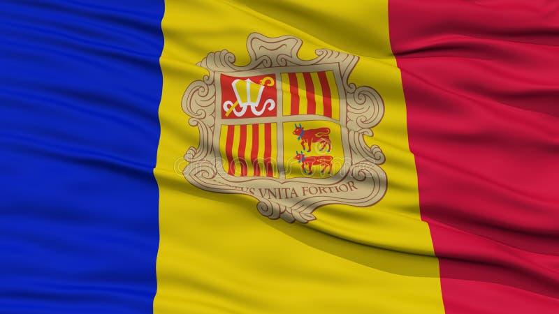 Bandeira de Andorra do close up ilustração stock