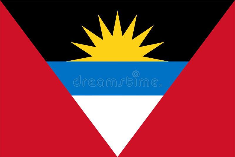Bandeira de Antígua e de Barbuda ilustração stock