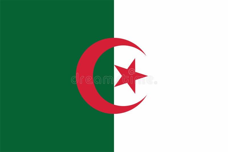 A bandeira de Argélia ilustração royalty free