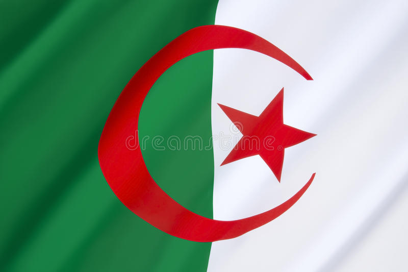 Bandeira de Argélia imagens de stock royalty free