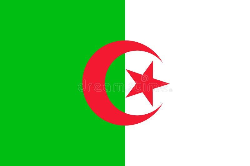 Bandeira de Argélia ilustração do vetor