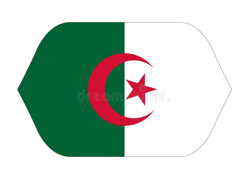 Bandeira de Argélia - país no Maghreb ilustração stock