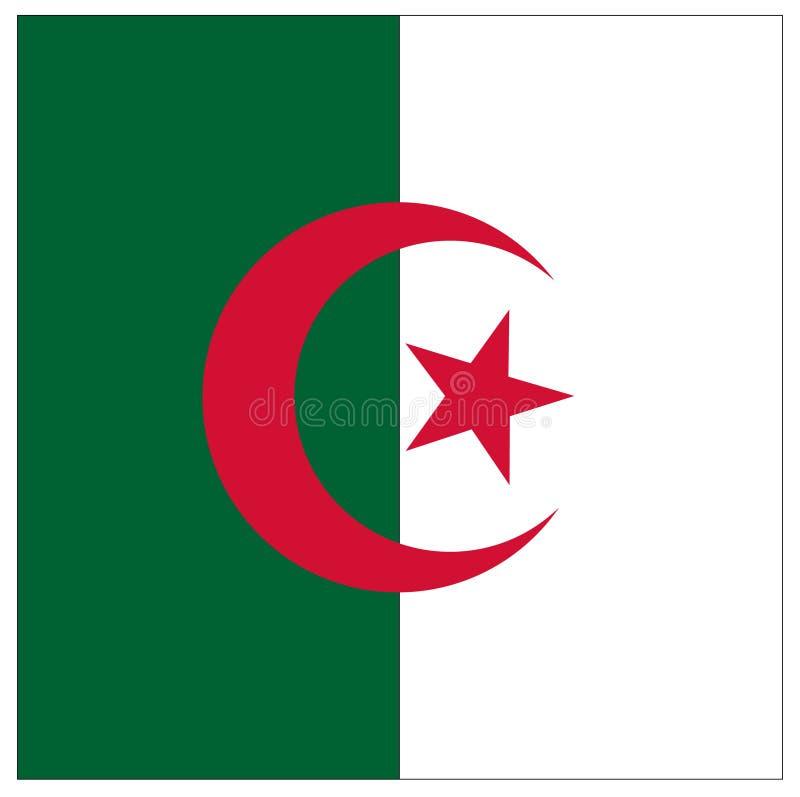 Bandeira de Argélia - país no Maghreb ilustração royalty free