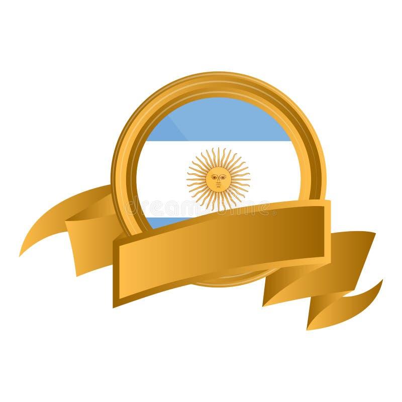 Bandeira de Argentina ilustração do vetor