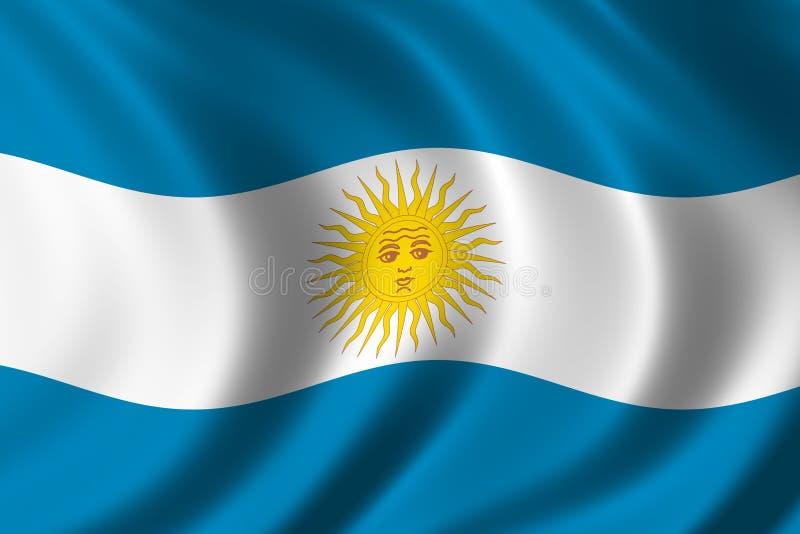 Bandeira de Argentina ilustração royalty free