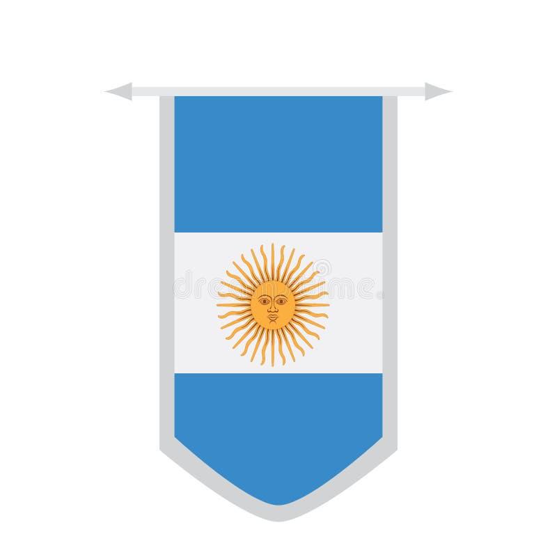 Bandeira de Argentina em uma bandeira ilustração stock