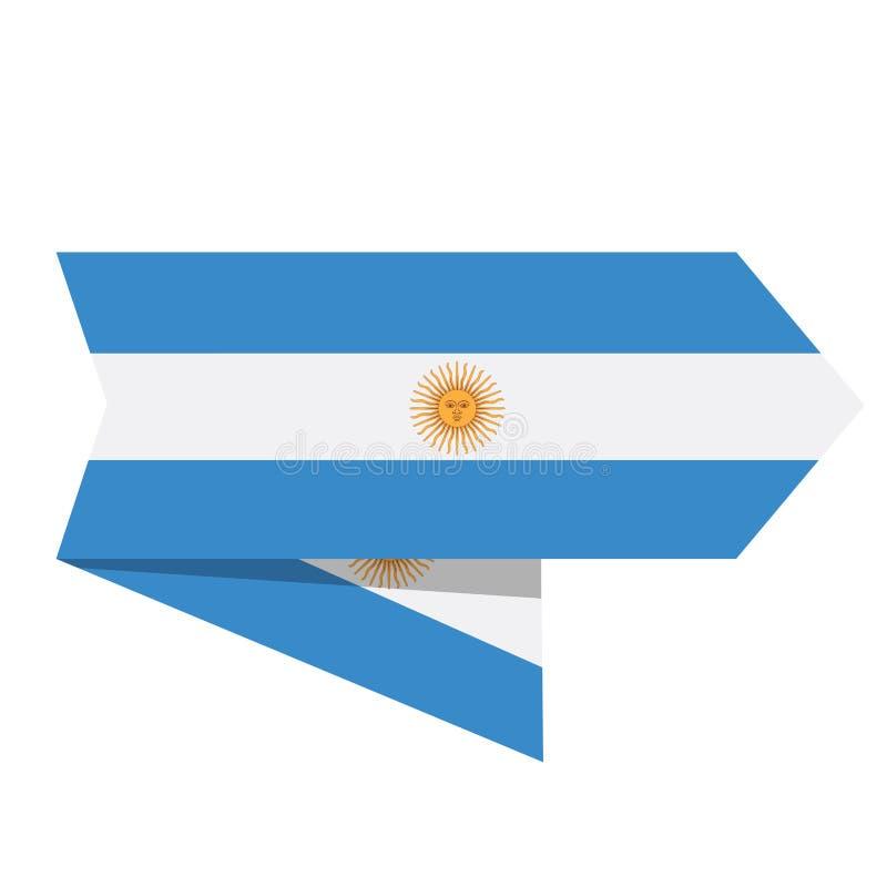Bandeira de Argentina em uma etiqueta ilustração do vetor