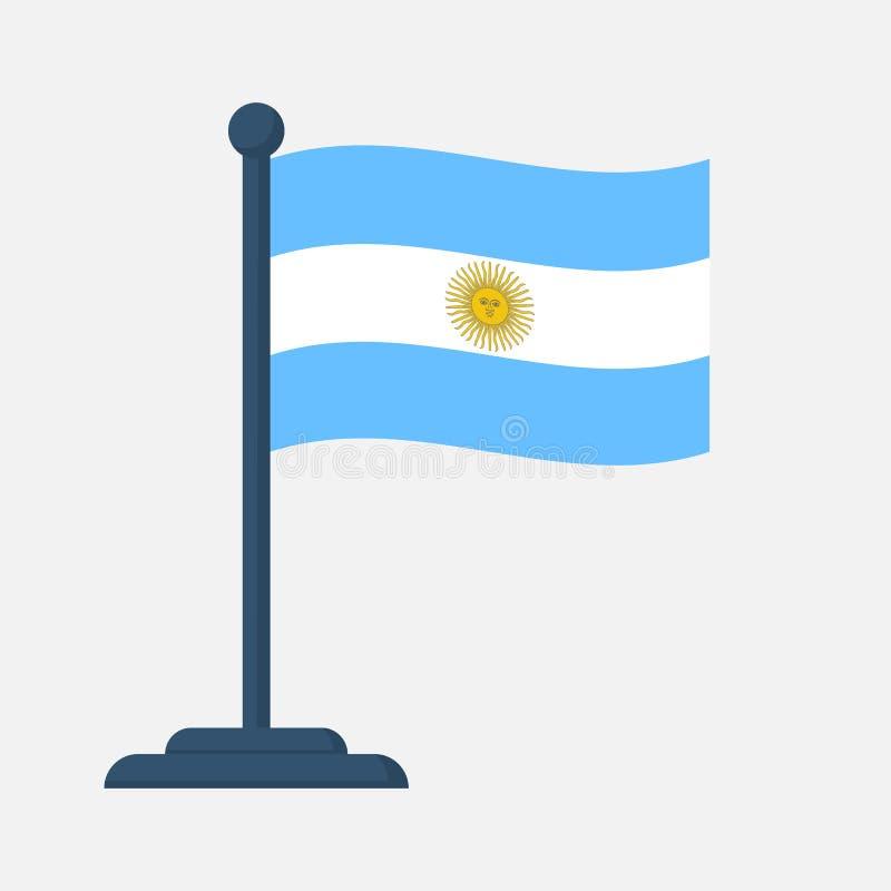 Bandeira de Argentina isolada no fundo branco ilustração royalty free