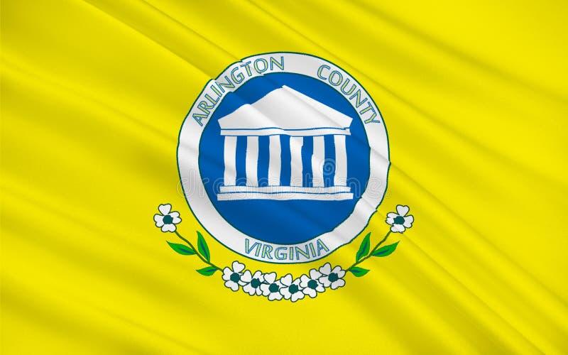 Bandeira de Arlington County em Virgínia, EUA ilustração do vetor