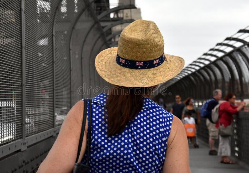 A bandeira de Austrália decora o chapéu imagens de stock royalty free