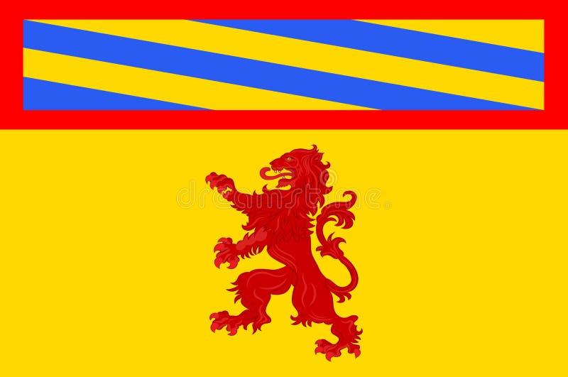 Bandeira de Autun em Saone e em Loire de Borgonha, França ilustração royalty free