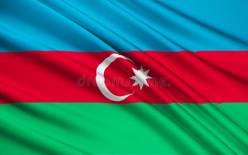 Bandeira de Azerbaijan fotografia de stock royalty free