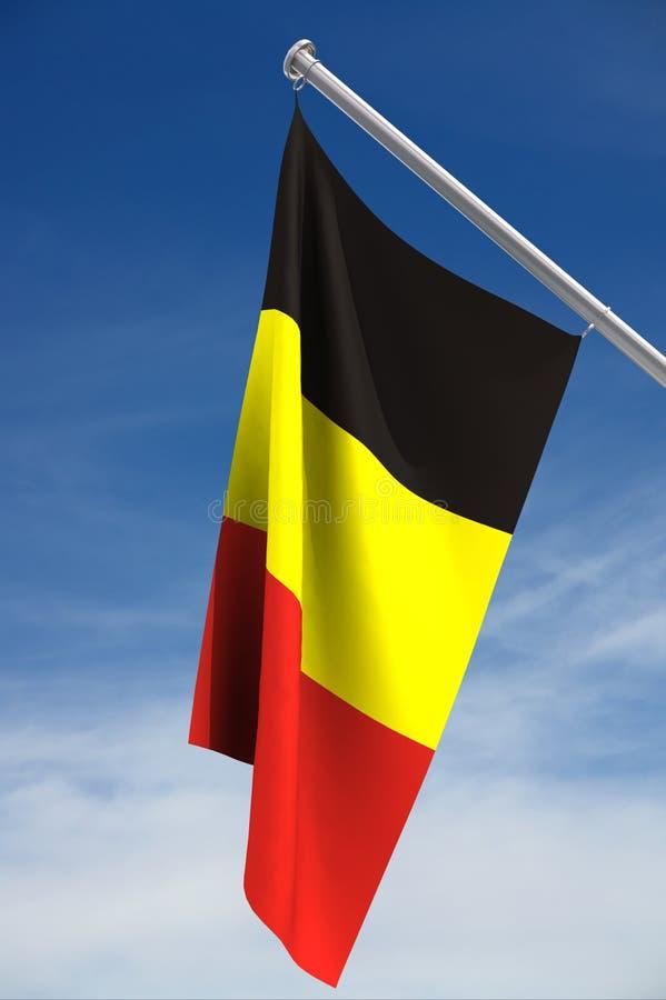 Bandeira de Bélgica ilustração stock