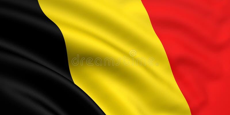 Bandeira de Bélgica ilustração royalty free
