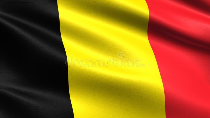 Bandeira de Bélgica, com textura de ondulação da tela fotos de stock royalty free