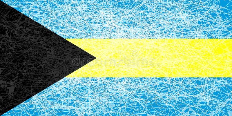 Bandeira de Bahamas ilustração royalty free
