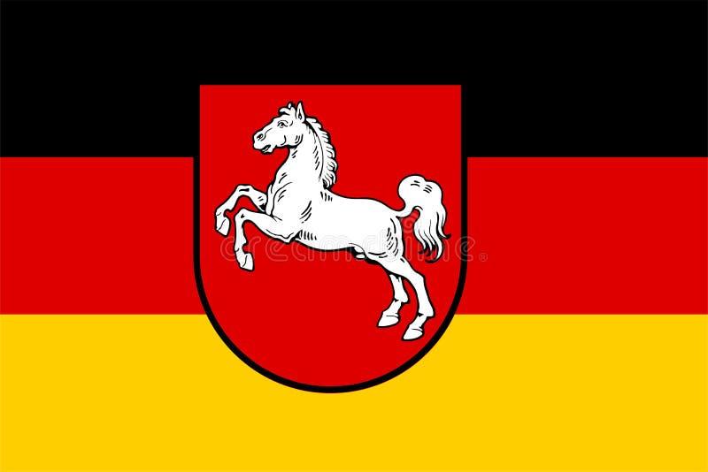 Bandeira de Baixa Saxónia ilustração stock
